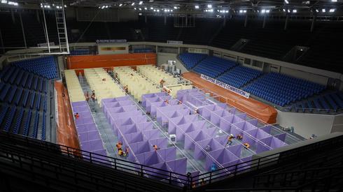 Koronawirus. Filipiny: arena sportowa przekształcona w miejsce kwarantanny. Foto:PAP/EPA/Rolex Dena Pena