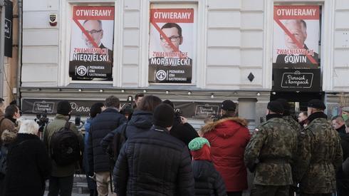 Tak wyglądał niedzielny protest restauratorów w Poznaniu (fot. Piotr Skornicki/AG)