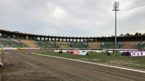 Tak prezentował się zielonogórski stadion na 1,5h przed meczem