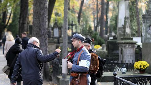 Kwesta na rzecz Starych Powązek (zdj. PAP/Rafał Guz)