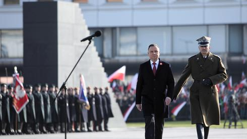 Andrzej Duda na pl. Piłsudskiego (fot. PAP)