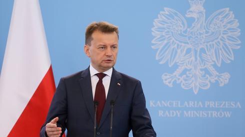 Szef MSWiA Mariusz Błaszczak (fot. PAP/Paweł Supernak)