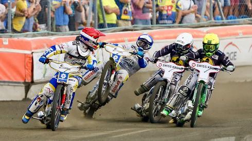 Bieg nr 3. Od lewej: Pawlicki, Buczkowski, Zengota, Dudek. Fot: Łukasz Trzeszczkowski