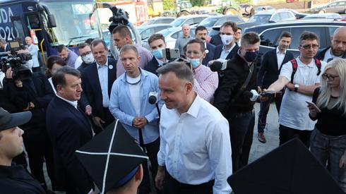 Andrzej Duda rozpoczął ostatni dzień kampanii wizytą w Kole / fot. Roman Zawistowski, PAP