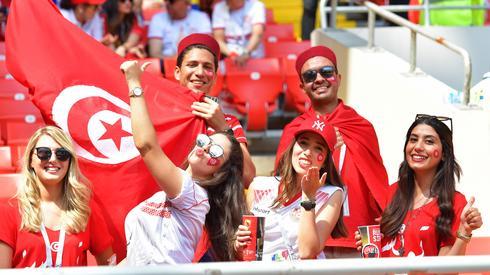 Tunezyjskie fanki wierzą w zwycięstwo swojej reprezentacji w meczu z Belgią (fot. PAP/EPA)