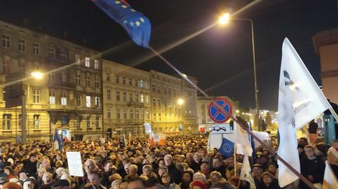 Protest w Poznaniu. /fot. Marta Glanc