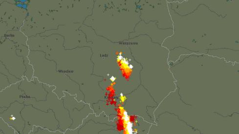 Aktualne wyładowania atmosferyczne w Polsce