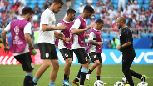 Do pierwszego gwizdka w meczu Urugwaj - Rosja zostało niecałe 15 minut (fot. PAP/EPA)