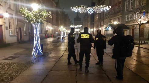 Strażnicy miejscy w centrum Gdańska, fot. Piotr Olejarczyk