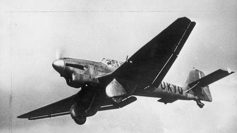 Zdjęcie Junkers Ju 87. Typ samolotu, który zaatakował Wieluń. Materiał powstał dzięki współpracy Onet z partnerem - Narodowym Archiwum Cyfrowym, którego misją jest budowanie nowoczesnego społeczeństwa świadomego swojej przeszłości. NAC gromadzi, przechowuje i udostępnia fotografie, nagrania dźwiękowe oraz filmy. Zdigitalizowane zdjęcia można oglądać na nac.gov.pl