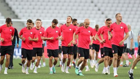 Polacy podczas oficjalnego przedmeczowego treningu na stadionie w Wołgogradzie (fot. PAP/EPA)