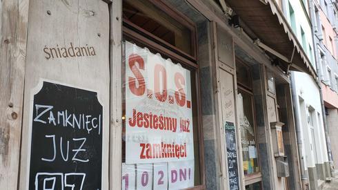 Baner na restauracji w Szczecinie