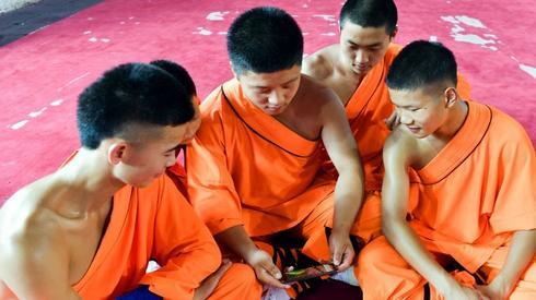 Wczorajszy mecz Francji z Belgiąbył oglądany nawet w chińskich klasztorach (fot. AFP)