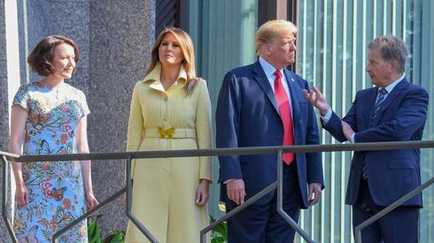 Jenni Haukio, Melania Trump, Donald Trump i Sauli Niinisto