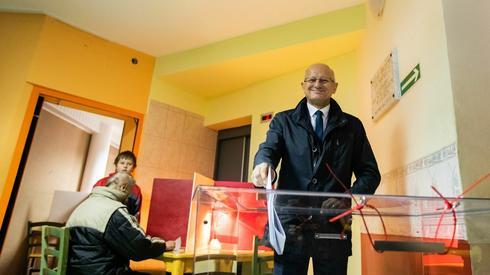 Prezydent Lublina Krzysztof Żuk zagłosował w komisji wyborczej przy ul. Zbożowej