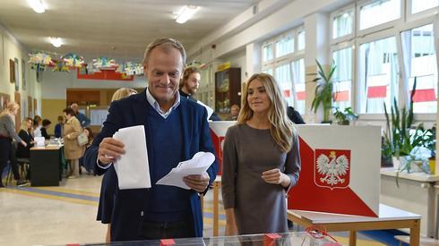 Donald Tusk z córką Katarzyną (Fot. Marcin Gadomski/PAP)