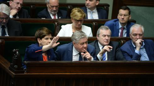 Ławy rządowe podczas dzisiejszego posiedzenia Sejmu, fot. PAP/Jacek Turczyk