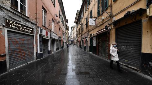 Puste ulice we Włoszech (PAP/EPA/LUCA ZENNARO)