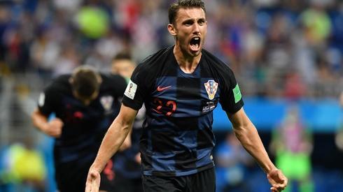 Tak Badelj celebrował gola (fot. AFP)