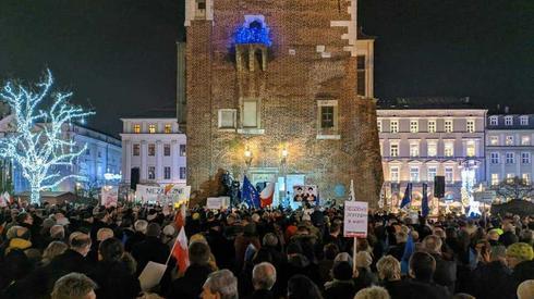 Protest w Krakowie /fot. Oskar Grzegorczyk