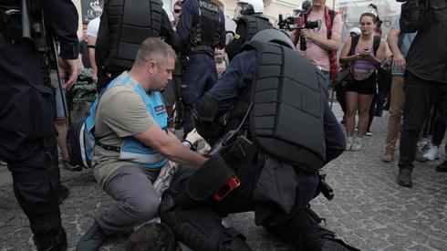 Interwencja policji. Fot. Jędrzej Nowicki