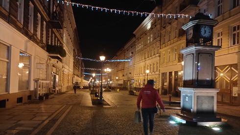 Centrum Szczecina tuż przed godziną 19, fot. Alicja Wirwicka