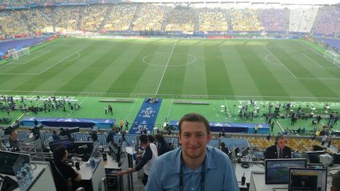 Nasz korespondent Dariusz Faron jest już na stanowisku! Do meczu zostało 1,5 godziny!