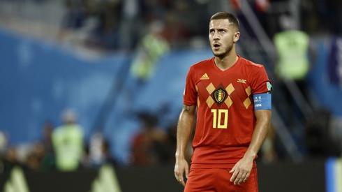 Rozczarowany Eden Hazard po meczu z Francja (fot. AFP)