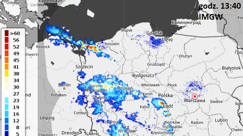 Przybywa opadów i burz nad Polską
