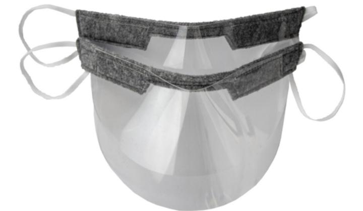 2 sztuki mini przyłbic dla dorosłych + żel antybakteryjny 130 ml GRATIS