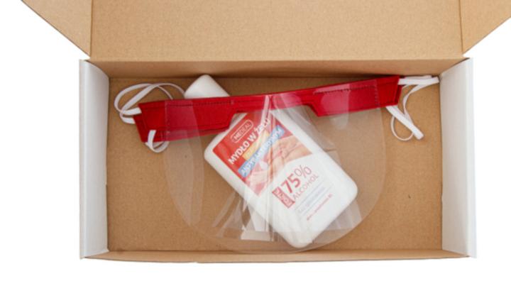 2 sztuki mini przyłbic dla dzieci + żel antybakteryjny 130 ml GRATIS
