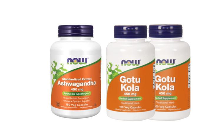 Ashwagandha + Gotu Kola - zestaw suplementów na stres, lęk i nerwy