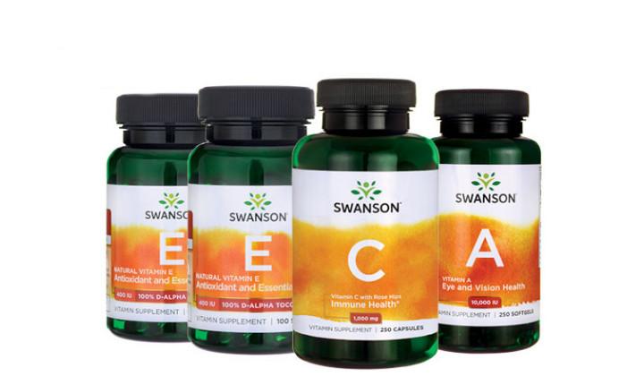 Zestaw suplementów diety na cholesterol – Witamina C + Witamina E + Witamina A