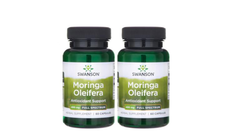 DWUPAK Moringa Olejodajna 400 mg na odporność i starzenie się skóry