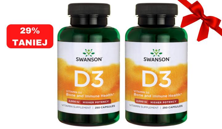 DWUPAK Witamina D3 2000 IU – suplement diety na kości i zęby