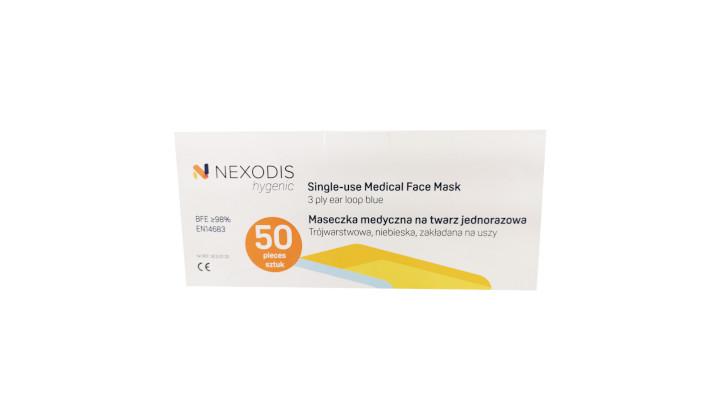 Maseczki ochronne Nexodis Hygenic (50 sztuk)