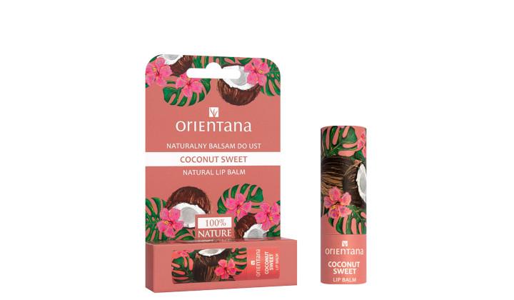 Naturalny balsam do ust Orientana Coconut