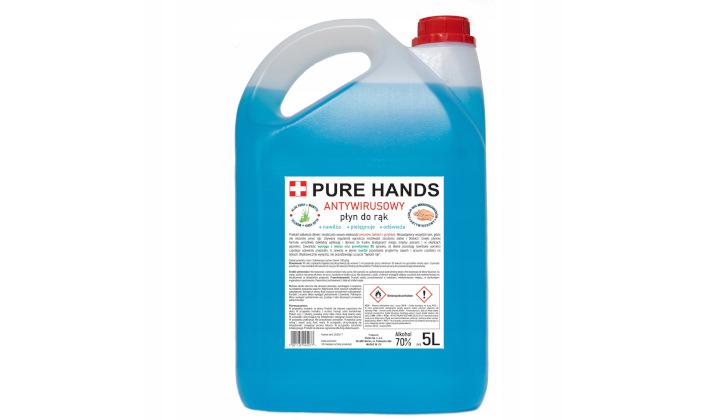 Płyn do dezynfekcji rąk Pure Hands z aloesem, d-pantenolem i mentolem