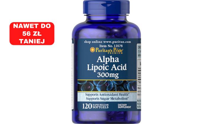 Kwas alfa-liponowy 300 mg na pobudzenie metabolizmu