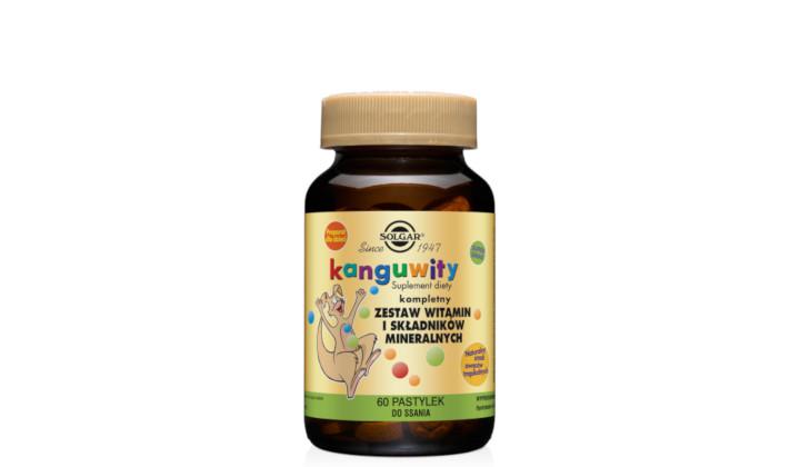 Kanguwity dla dzieci - witaminy i minerały w pastylkach do ssania