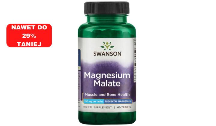 Jabłczan magnezu 150 mg – suplement diety wzmacniający mięśnie i kości