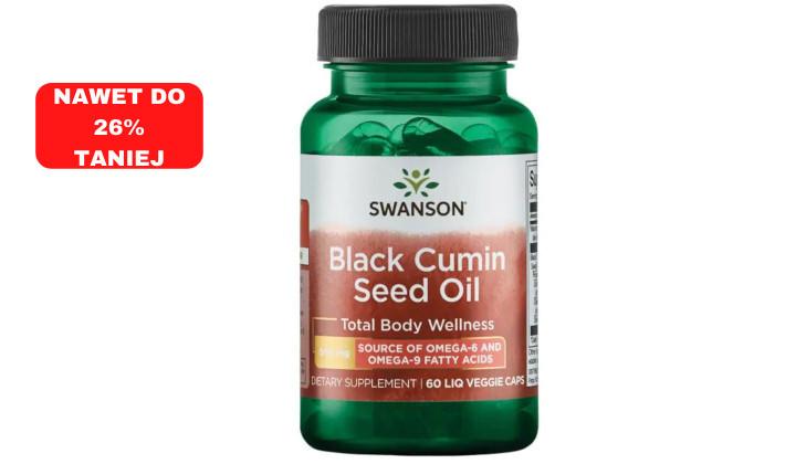 Olej z nasion czarnego kminu 500 mg – suplement diety zmniejszający poziom cholesterolu