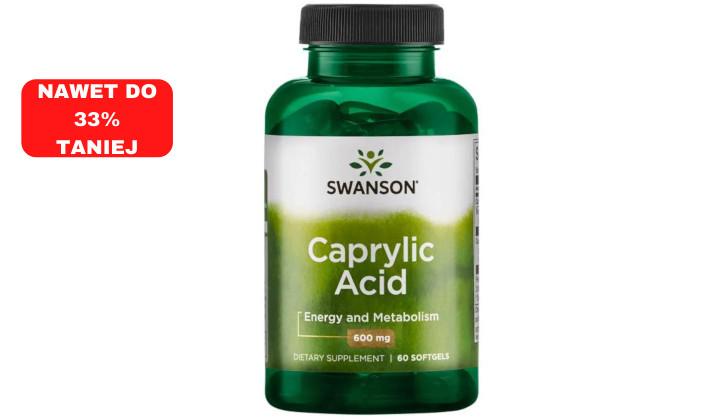 Kwas kaprylowy 600 mg – suplement diety wspierający jelita