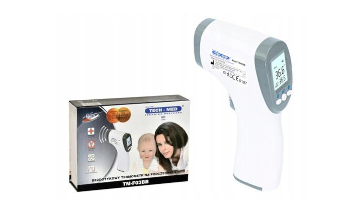 Elektroniczny termometr bezdotykowy na podczerwień Tm-F03BB
