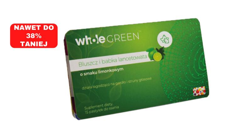 Whole Green – pastylki do ssania na gardło