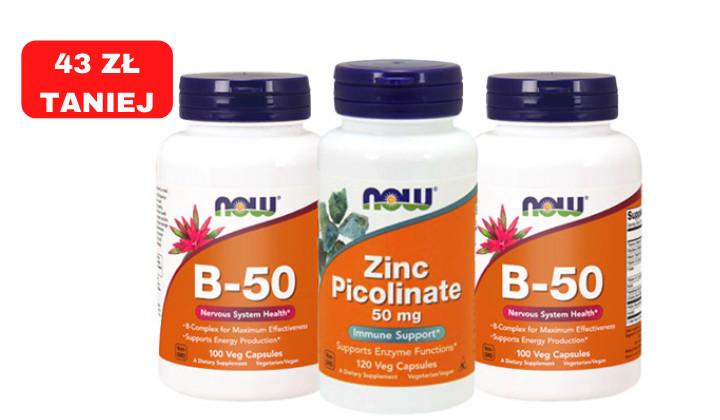 Zestaw suplementów diety na włosy - Biotyna + Cynk + witaminy z grupy B