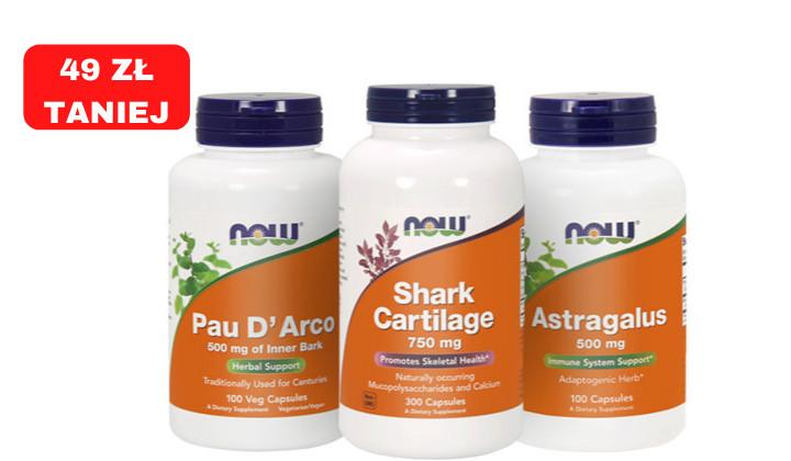 Zestaw suplementów dla sportowców - Chrząstka rekina + Traganek + Pau d'Arco