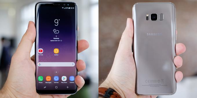 Samsung Galaxy S8 i S8+ w dłoni
