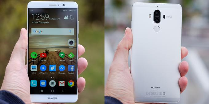 Huawei Mate 9 w dłoni