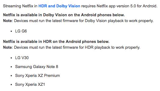 Lista telefonów obsługujących Netflixa w HDR